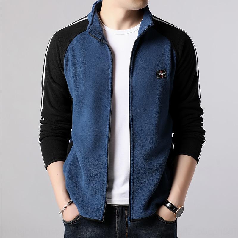 bYAnX Polar Fleece Strickjacke Frühling und Herbst Junge Männer matchin Kragen Vlies Kleidung Mantel koreanischen Stil Pullover Mantel woolSweater woolcolor