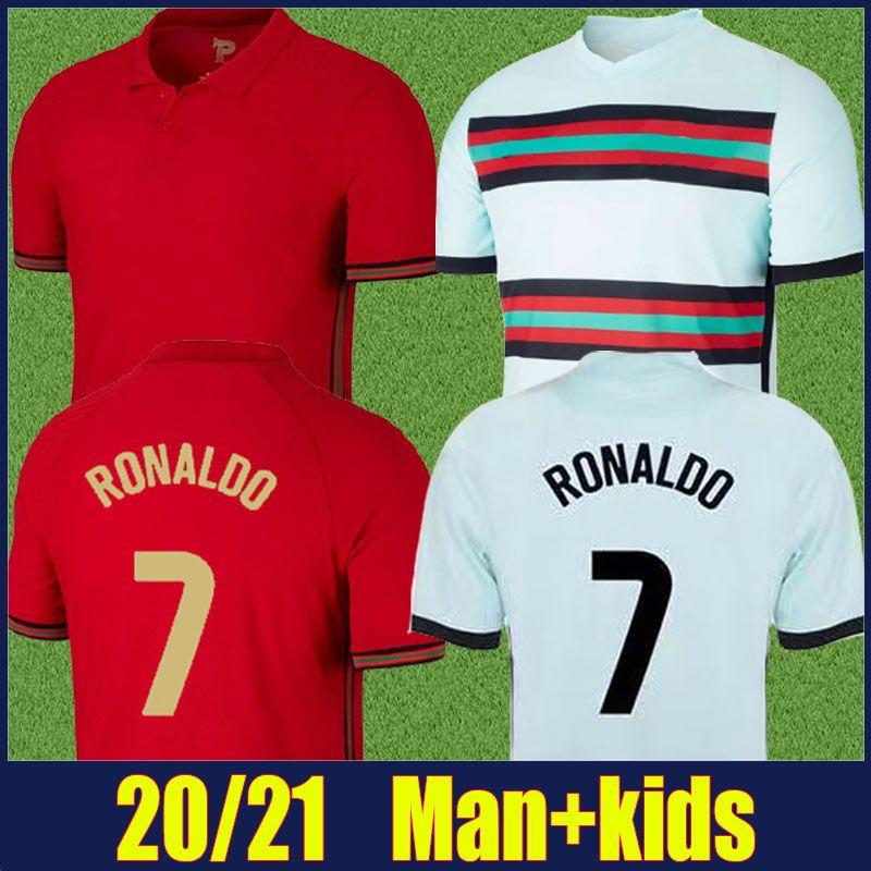 2020 البرتغال جيرسي القميص القومي قميص برناردو رونالدو كرة القدم جيرسي رجل الاطفال كيت بيبي نيفيس جواو فيليكس B.fernandes كرة القدم جيرسي 20/21