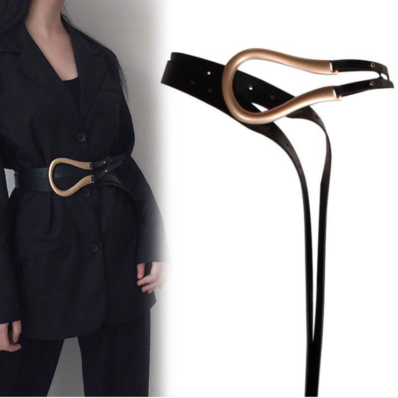 130 см дизайнерские женские широкие черные кожаные талии пояса мода золотые пряжки ремни для джинсов платье Cinturones Para Mujer