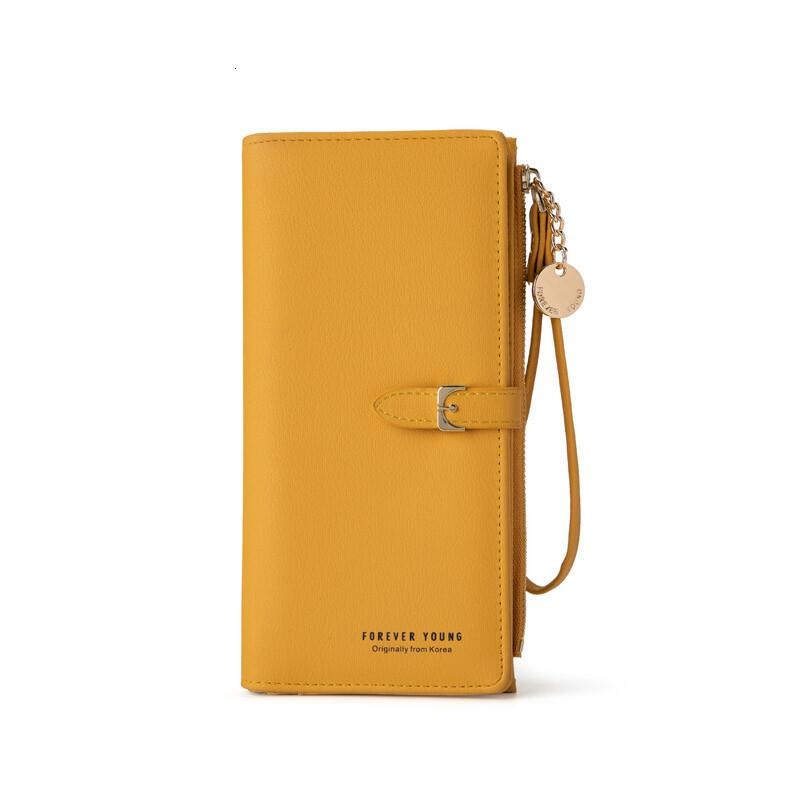 2020 new women's wallet Korean style solid color women's handbag large capacity Women's wrist bag