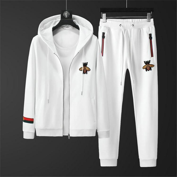 Горячие продажи мужская мода спортивная фуфайка костюмы мужские легкоатлетический спортивная куртка куртка с капюшоном мужские брюки и JA