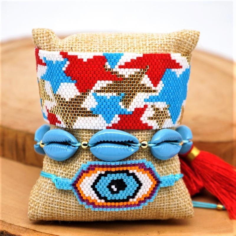SHINUSBOHO 2020 monili di lusso del braccialetto turco Evil Eye bracciale femminile Pulseras Mujer Moda MIYUKI braccialetto Handmade