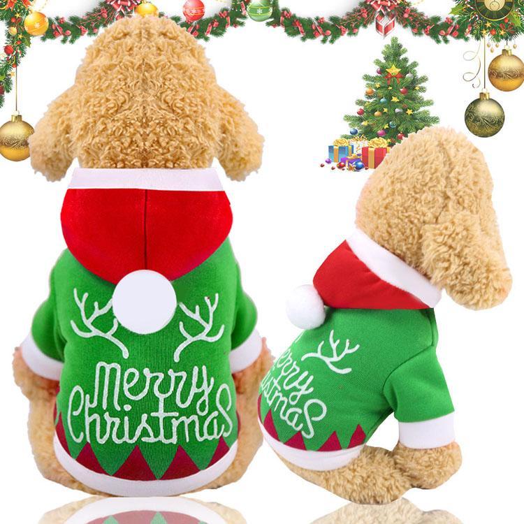sweat à capuche Vêtements de Noël de chien d'hiver chaud Pet vêtements pour chien Veste Manteau Vêtements chiot Sweats à capuche pour les petites chiens Fournitures moyen Outfit XS-2XL