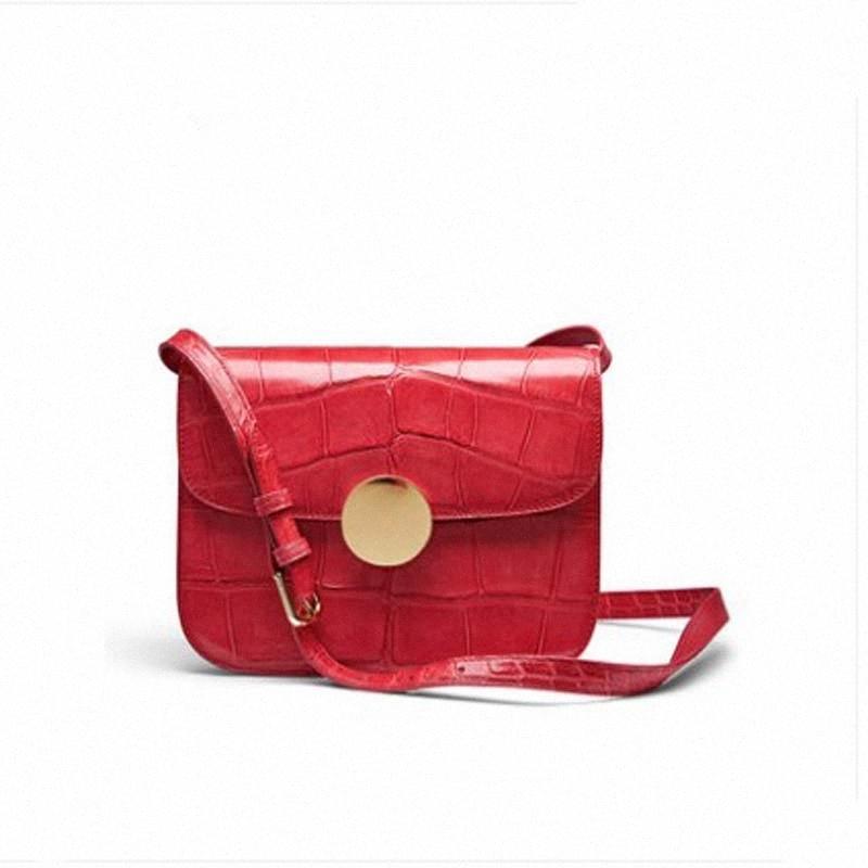 Gete новой крокодила Женской сумка тенденции мода немного хлеба из крокодиловой кожи кожи сумки одного плеча женщин tEH5 #
