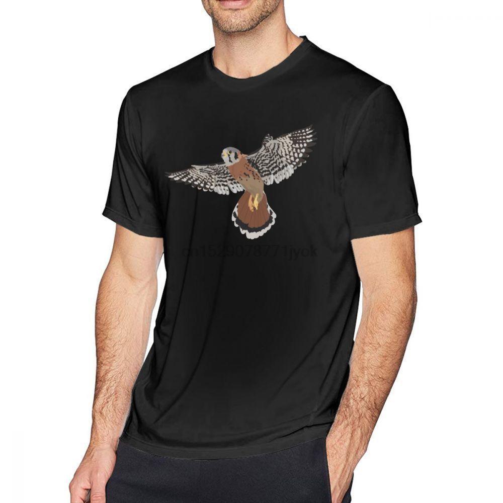 Falknerei-T-Shirt American Kestrel T-Shirt Ehrfürchtig Print-T-Shirt aus Baumwolle Street 6xl Männer mit kurzen Ärmeln T-Shirt