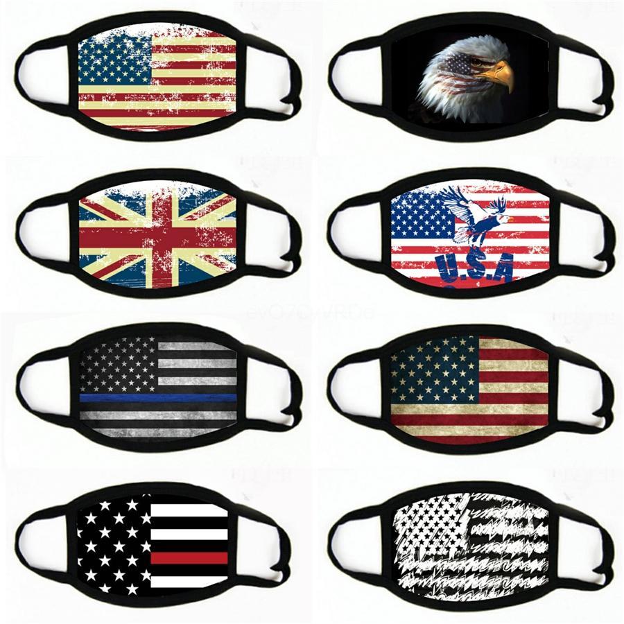 Masques Motif Drapeau américain unisexe Motorcycle Echarpes Foulard Masque Visage extérieur Cyclisme Bandeau # 385