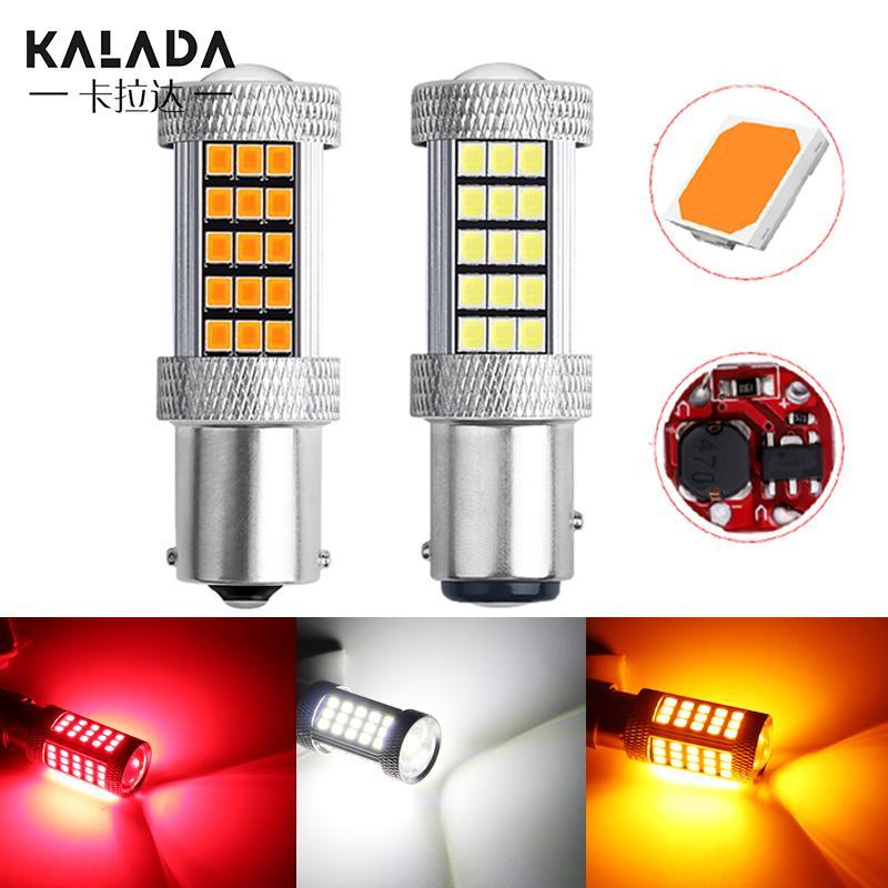 2X haute luminosité Canbus S25 1156 BA15S P21W pour la voiture LED Turn Signal Lumière 1157 BAY15D P21 / 5W Lampe Ampoule 12V frein arrière Rouge Orange