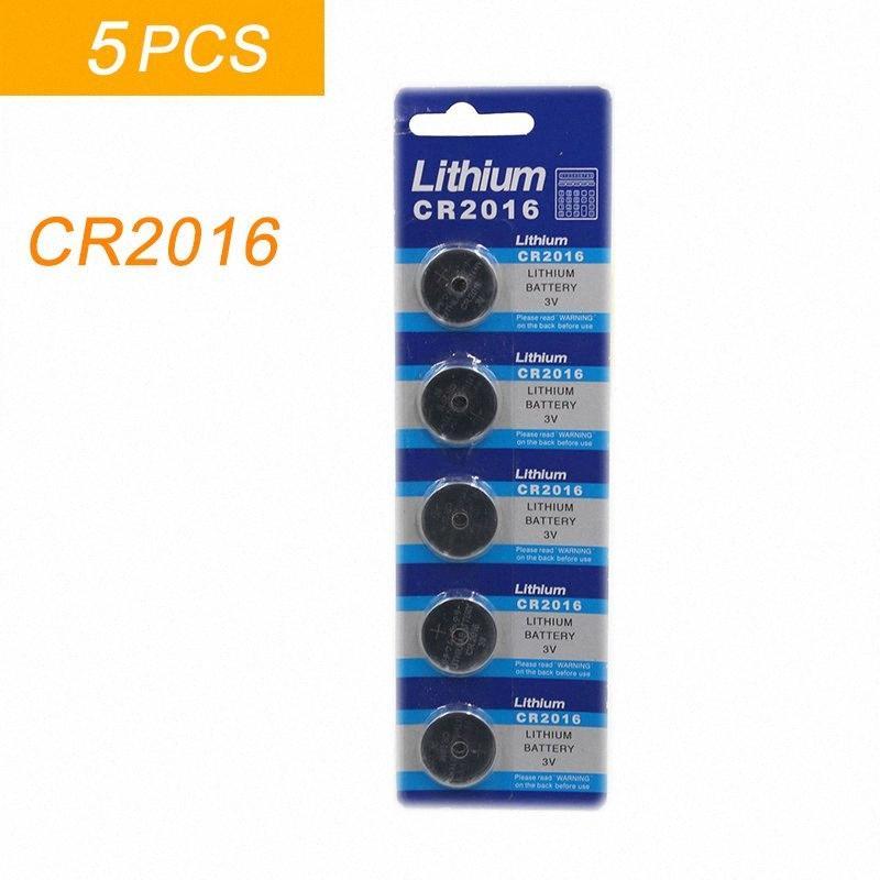 5PCS / الكثير 1 بطاقة CR2016 3V الليثيوم ليثيوم liom البطارية DL2016 ECR2016 LM2016 BR2016 CR خلية زر 2016 كوين بطاريات ساعة لعب ftcT #