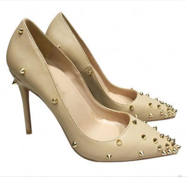 nova moda de luxo Designer mulheres sapatos de saltos vermelhos fundo assim estilo kate 8cm 10cm 12cm redondas dedos apontados Bombas Stiletto calcanhar Vestido 2020
