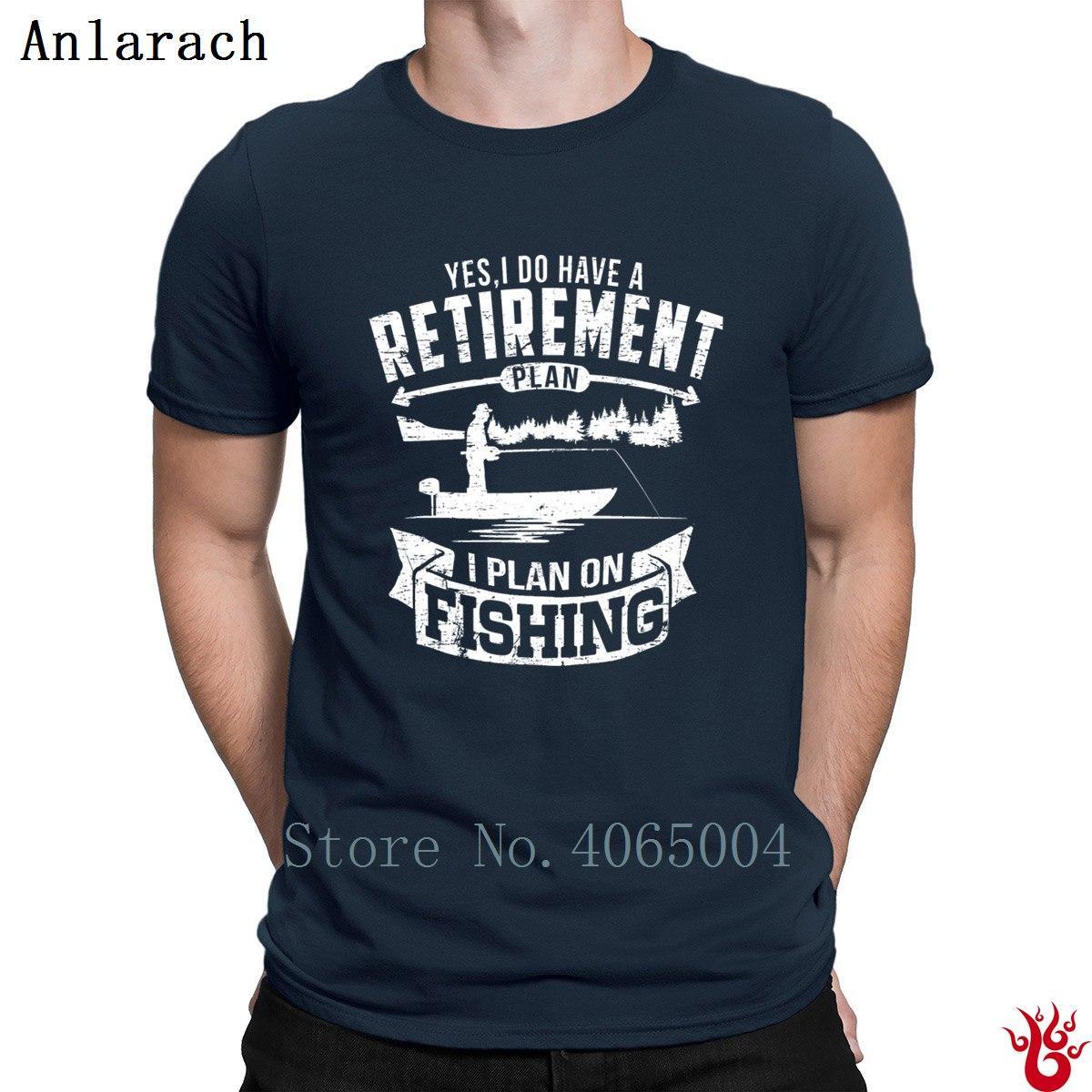 Pesche RetireMen'st T-shirt di formato S-3XL di svago 100% degli uomini maglietta comoda 2018 Progettazione regalo Tee Shirt modello Hip Hop