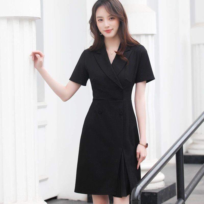 QuK1L Berufsfrauen des Sommer neues 2020 Art und Weise Kleid Store-Design Nische Kleid Licht reif Schmuck Schönheit Kosmetikerin