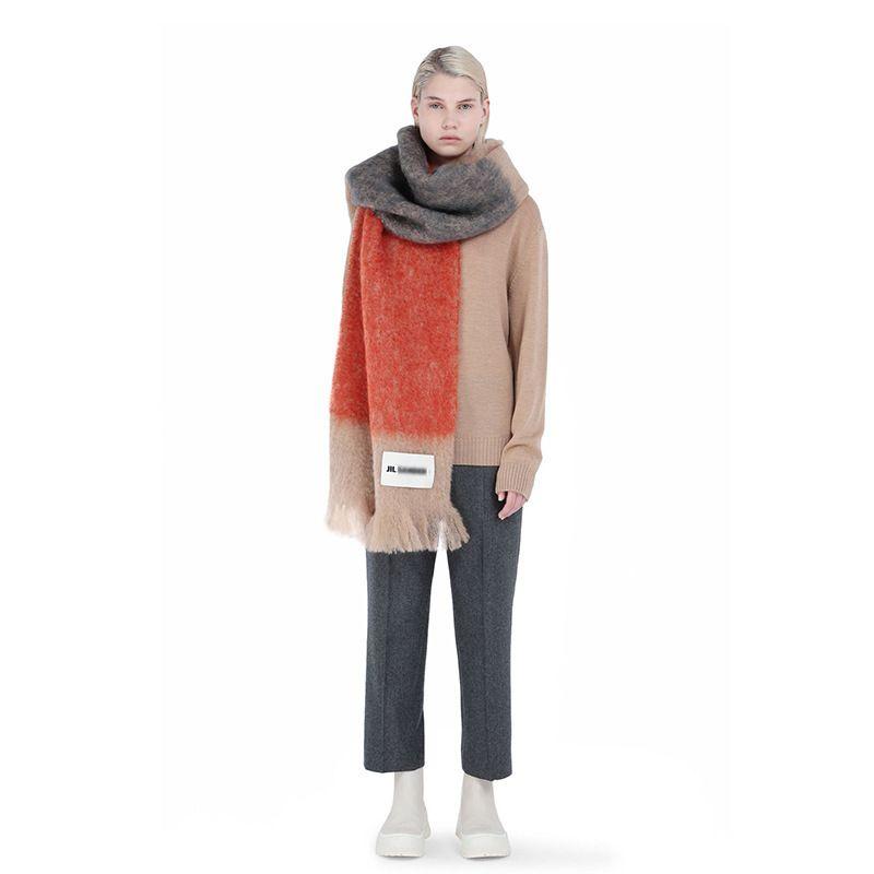 MUJER SACRFE MARCA Cashmere Winter Bufanda Bufanda Diseñador Acné Manta Bufandas Tipo de Mujer Tipo Color Borlas a cuadros imitado