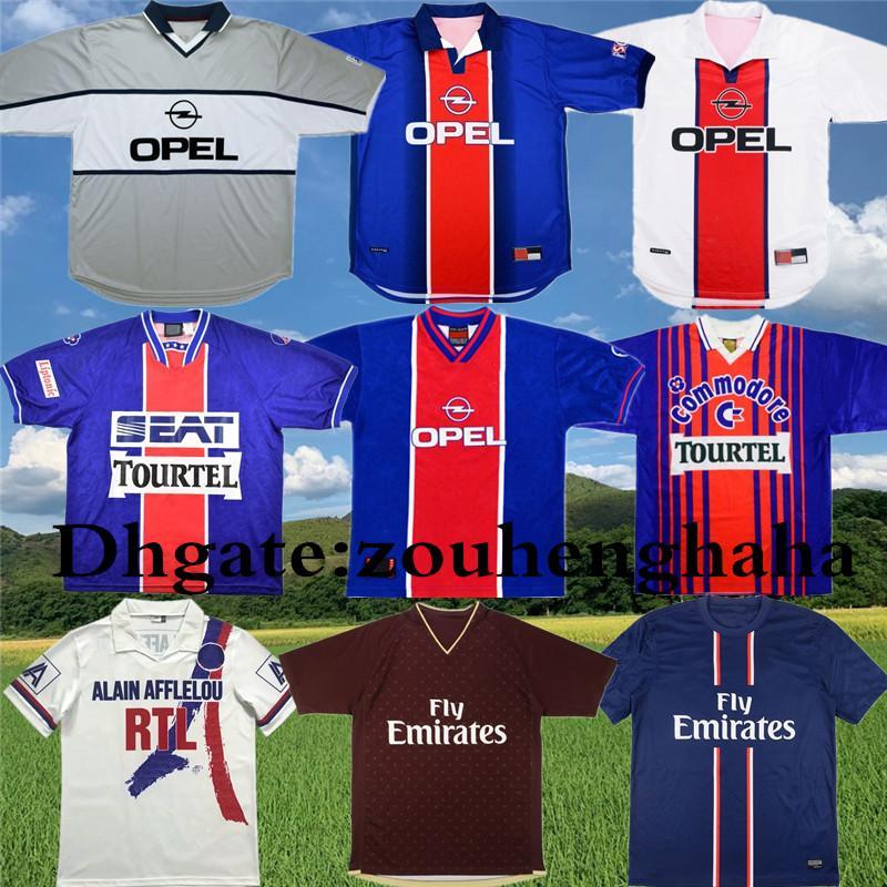 90 92 Retro Paris ANELKA Okocha WEAH fútbol Jersey 06 07 12 13 93 94 95 96 98 99 IBRAHIMOVIC camisa clásica Football
