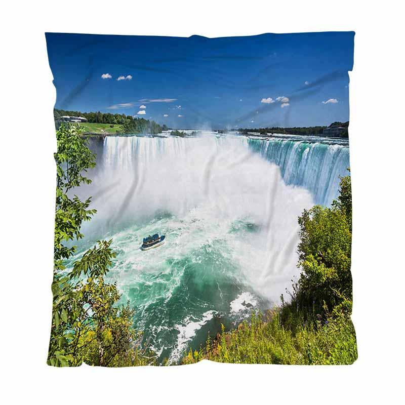 Warm Flanell Fleece-Decke Soft-Massivdecken, Horseshoe Falls Niagara Falls Ontario, Kanada, weiche bequeme Multifunktionsdecke