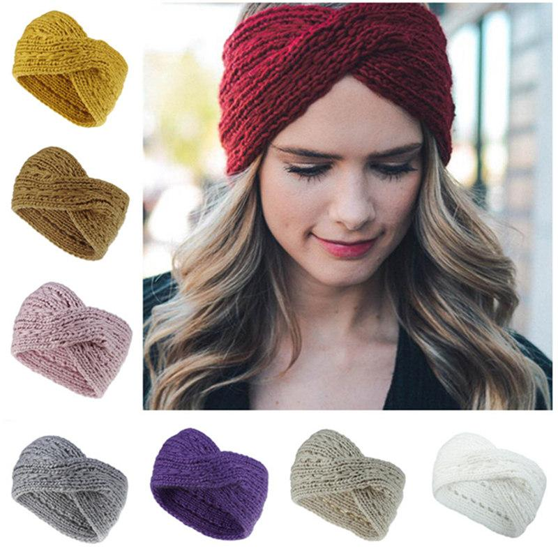 Frauen entwerfen Stirnband-Strick Kreuz Kabel Headwrap Winter-Haarband Crochet Turban-Kopf-Band-Verpackungs-Mode-Stirnband-Haar-Accessoires Geschenke