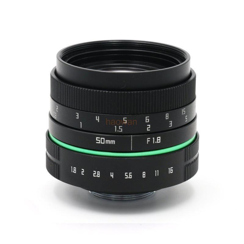 Outras câmeras CCTV 50mm F1.8 APS-C TV Filme C Mount Lens para NEX5 / 7 A6500 A7 M43 GH4 GF6 FX XT10 XT20 XT1 N1 EOSM / M2 / M3 Camera Mirrorless