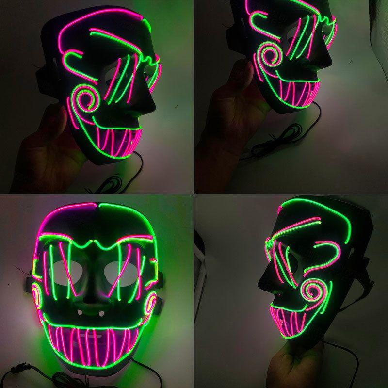 Visage Livraison gratuite Halloween Skull Masques Led Party lumineux Horreur Seam Bouche El froide Lumière Masque F1003
