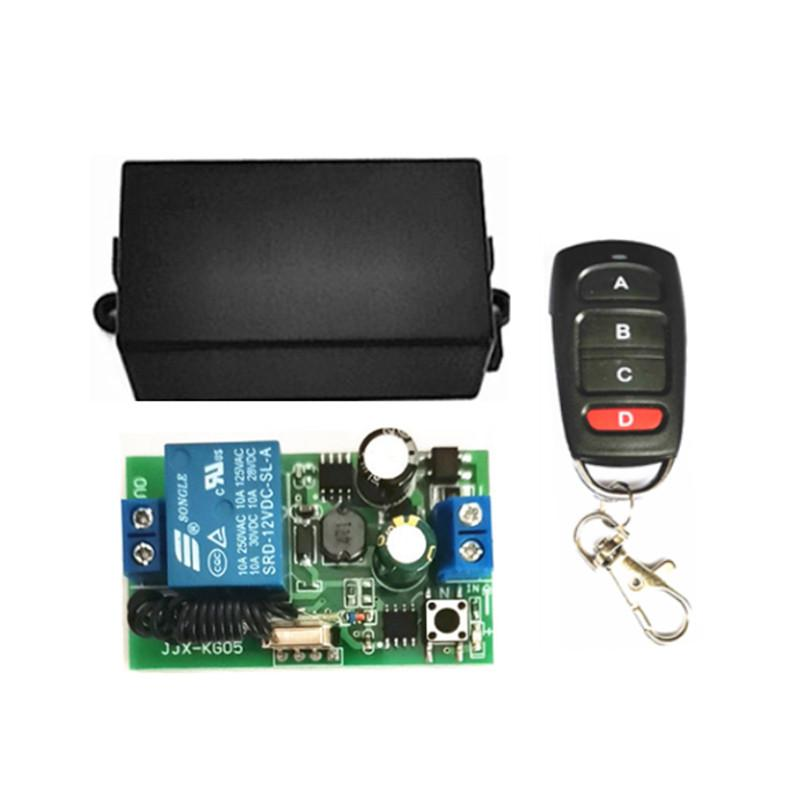 433Mhz Universal Wireless Remote Control Switch AC 85V 220V 1 Channel Relay Receiver Module and RF 433 Mhz Remote Control