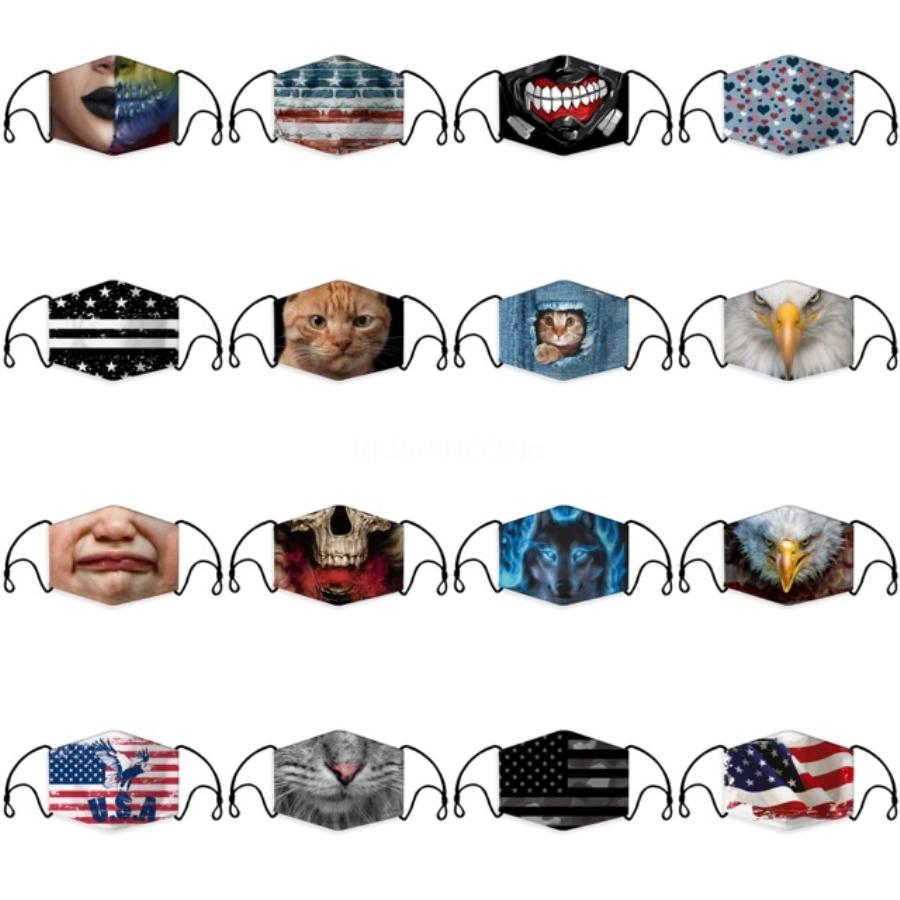 4 Colors Sports Masks Men And Women Outdoor Riding Sunscreen Dustproof Sandwich Comfortable Fashion Breathable Black Reusable Face Mask#779