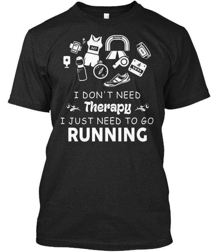 2020 venda quente 100% algodão corridas - eu não preciso de terapia apenas para ir t-shirt unisex padrão