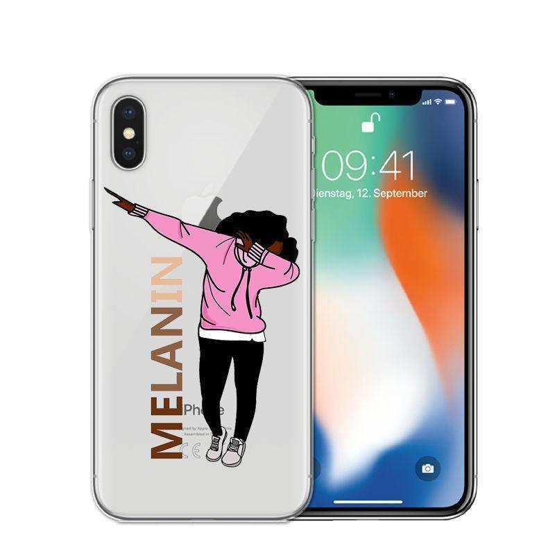 Poppin Aba silicone souple cas de téléphone pour Iphone X 6 7 8 Plus 5 5s Fashion Black Girl Se 6s Couverture Pour Iphone 7 Coque