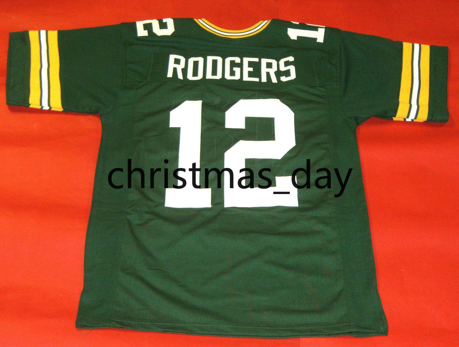 Günstige individuelle Aaron Rodgers Fußball Jersey Jeder Name Anzahl genähtes Jersey XS-5XL Customized
