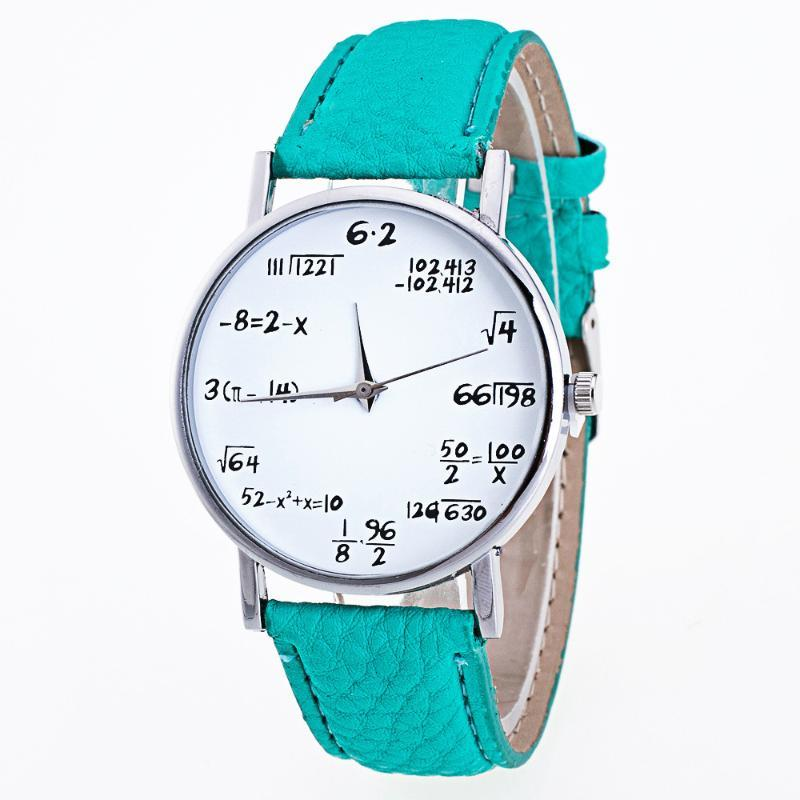 Moda pattern ragazze pelle orologi da polso analogica della fascia quarzo donna orologio orologio per le donne