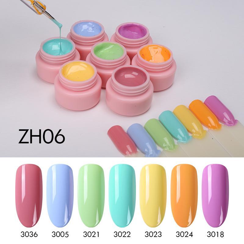 Clou Beaute Pintura Gel Set 72 colores de esmalte de uñas de gel 5ml de barniz de uñas de arte color de la pintura laca Para Arte Primer Set