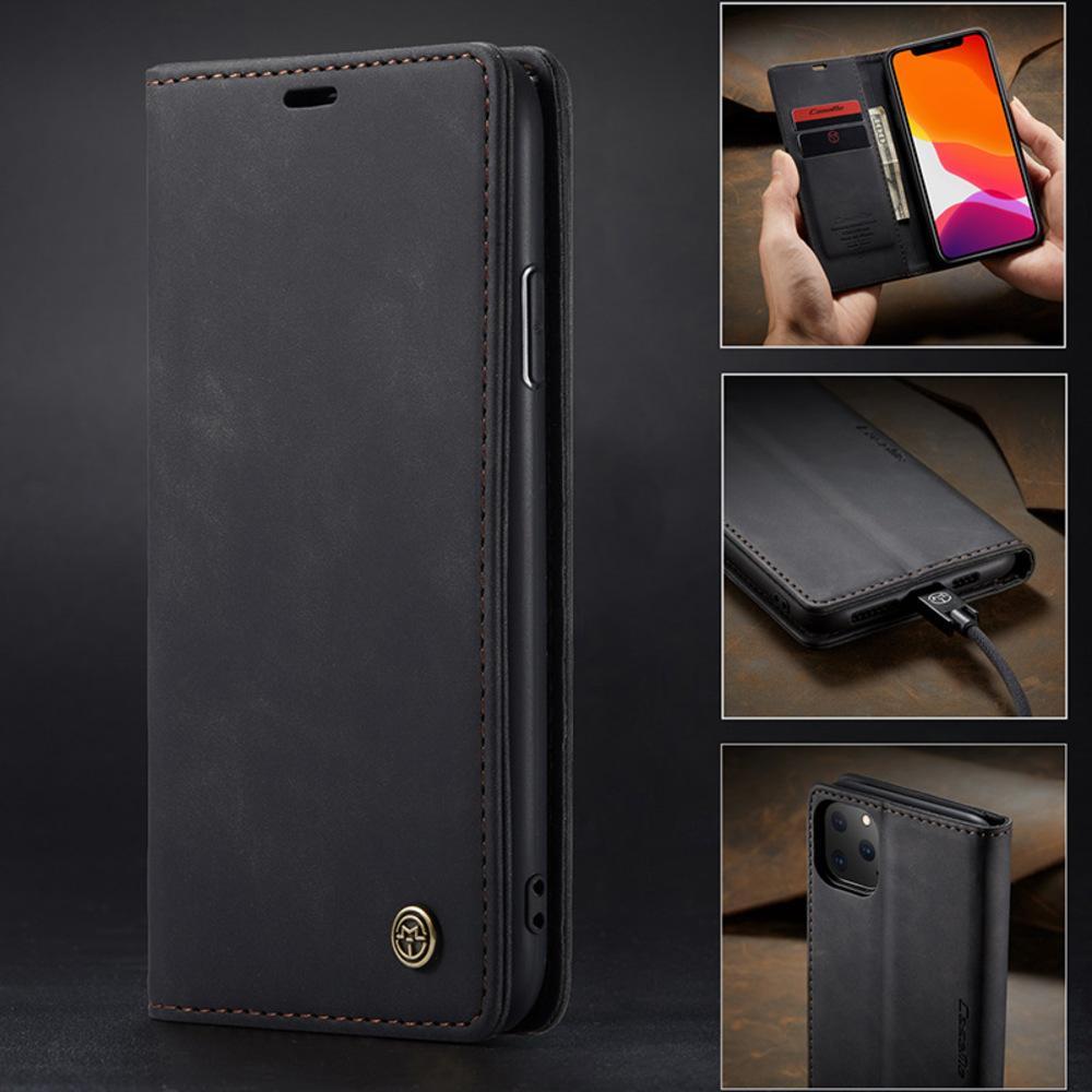 Роскошные ретро Кожа для Iphone 11 12 Pro X XS 12Pro 11Pro Max XR 8 7 Plus Стенд Wallet Слот для карты откидная крышка Магнитный чехол