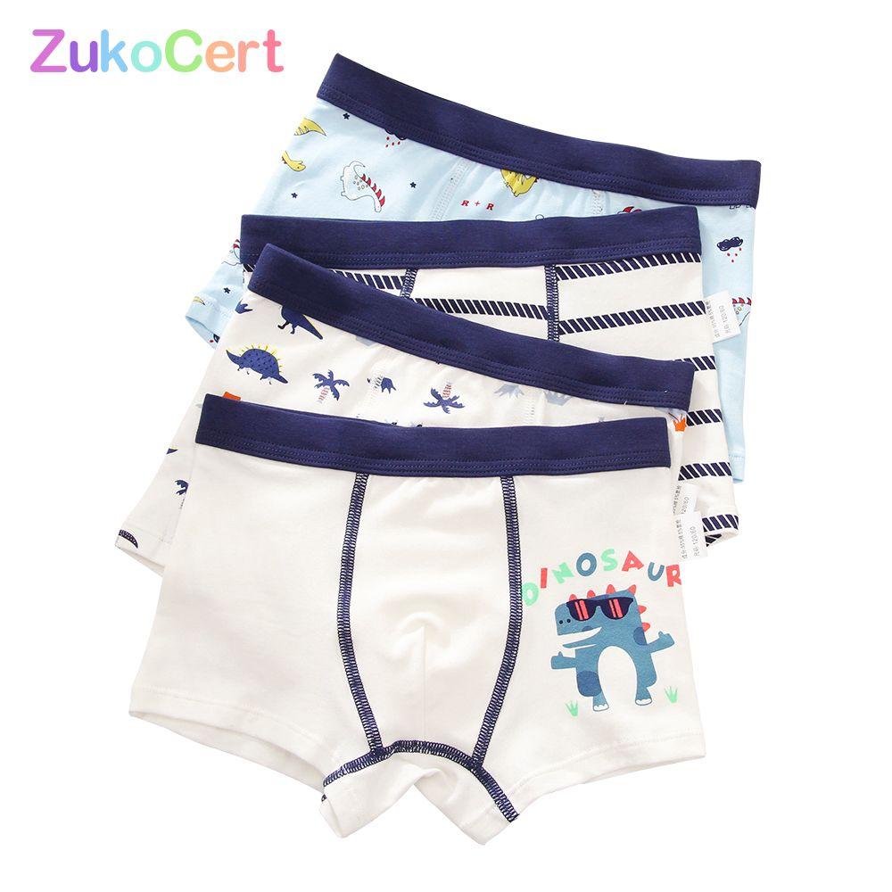 4 adet / grup pamuk şort erkek iç çamaşırı çocuklar iç çamaşırı boxer külot külot karikatür desen yumuşak çocuk genç 4- LJ200911