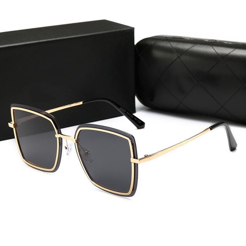22025 Moda Ray Trend occhiali da sole 54mm Lenti 5 occhiali da sole di colore donne degli uomini caldi di stile occhiali da sole casuali Trend Whith area 88
