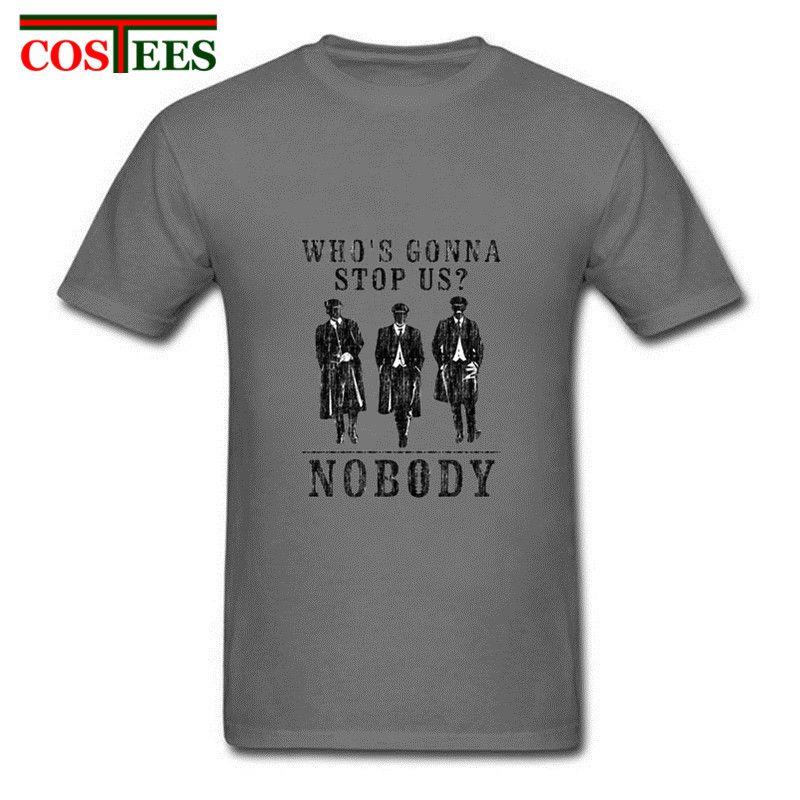Clásico de la vendimia retro tee Quién nos va a parar nadie Peaky Anteojeras hombres de la camiseta de Shelby Bros mujeres de la camiseta camiseta de encargo homme