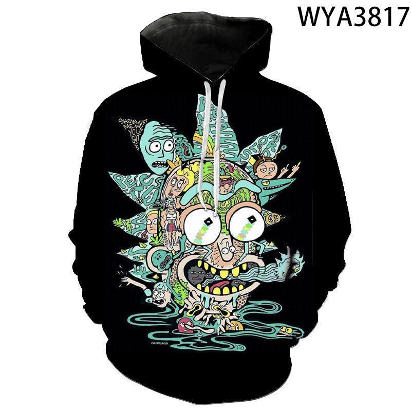 qualidade agradável New Rick e Morty hoodies camisolas 3D Imprimir unissex camisola do hoodie dos homens / mulheres de roupas 2020