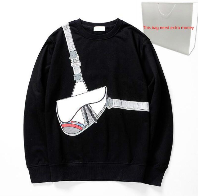 Moda Bolsa Cruz Imprimir sudaderas con capucha 20FW hombres suéter hombre suéter con capucha Primavera Streetwear capucha Homme 2 colores