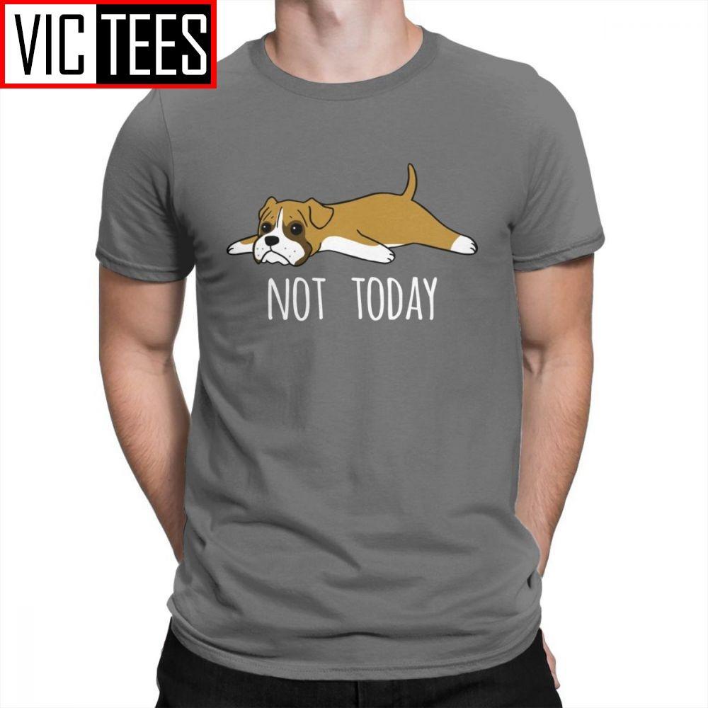 Человек смешной Не сегодня боксер собаки новизна футболка Менд Tops Street тройники Очищенного Хлопок Crewneck футболка