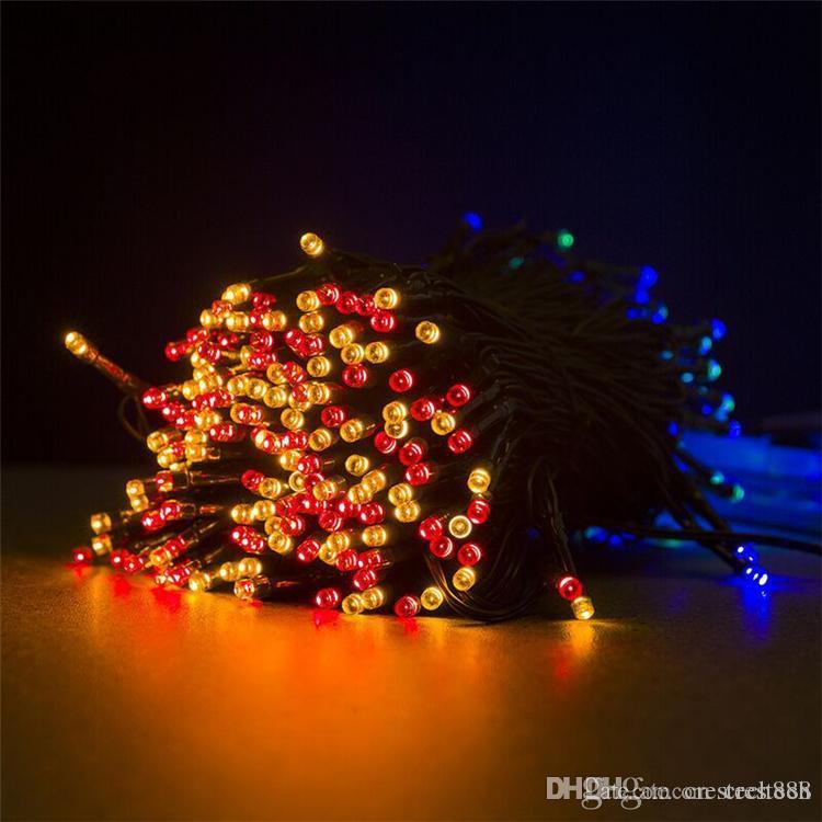 Solar LED Luzes Cordas Outdoor Waterproof férias festa de Natal Lâmpada Fada Guirlandas 50/100/200 LEDs Solar Decor Jardim Luzes