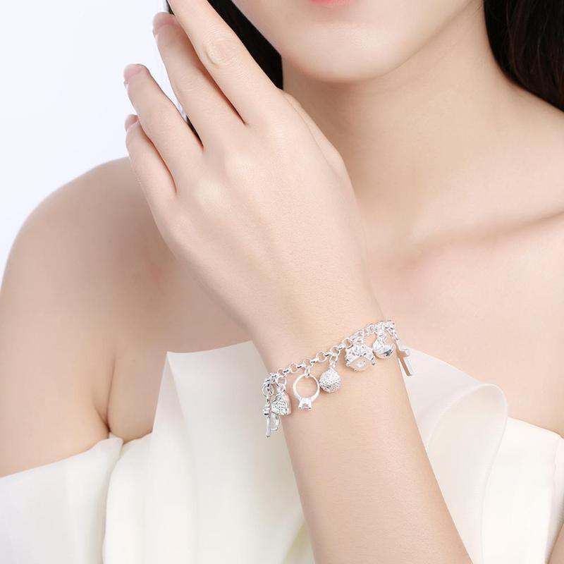 Armbandstücke 13 Hängende Dame Neue Frauen Für Kreuz Unregelmäßige Mode Silber Schmuck Farbe des Geschenks FSLww