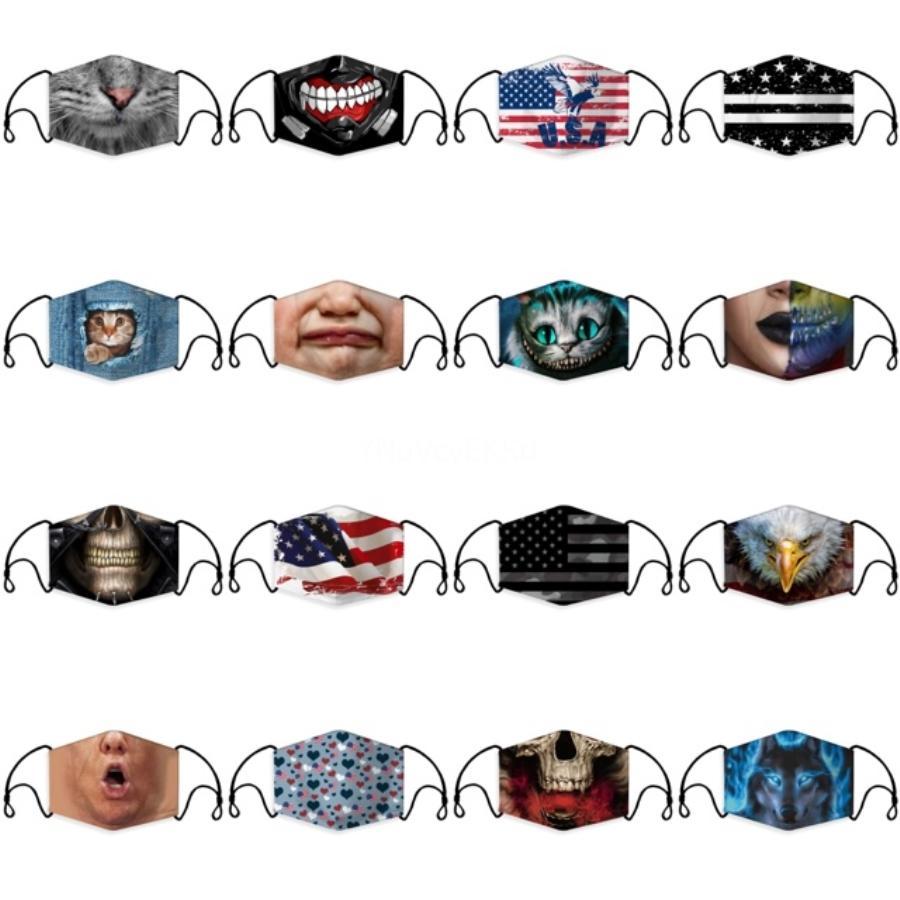 Mode Masques unisexe Coton visage avec Souffle PM2,5 Valve bouche Masque Masque anti-poussière réutilisable tissu avec Free Filtres # 958