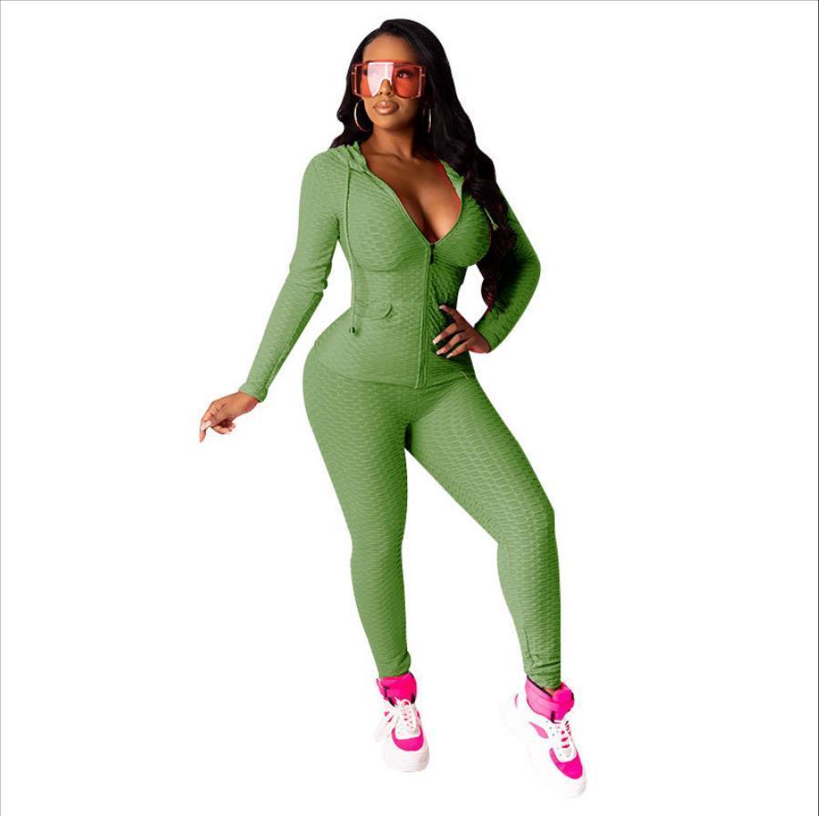 بدلة رياضية امرأة تشغيل رياضية ملابس رياضية مقنع الرمز الهاتفي رياضة اليوغا بانت للياقة البدنية الملابس تجريب مجموعة اللباس اليوغا