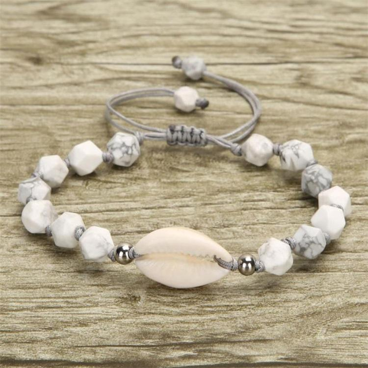 Collier T3i5613 Bijoux Shell Bracelet naturel pour femmes Parti cadeau Accessoires Pierre Mode Woven Hand Turquoise Natural home003 Y