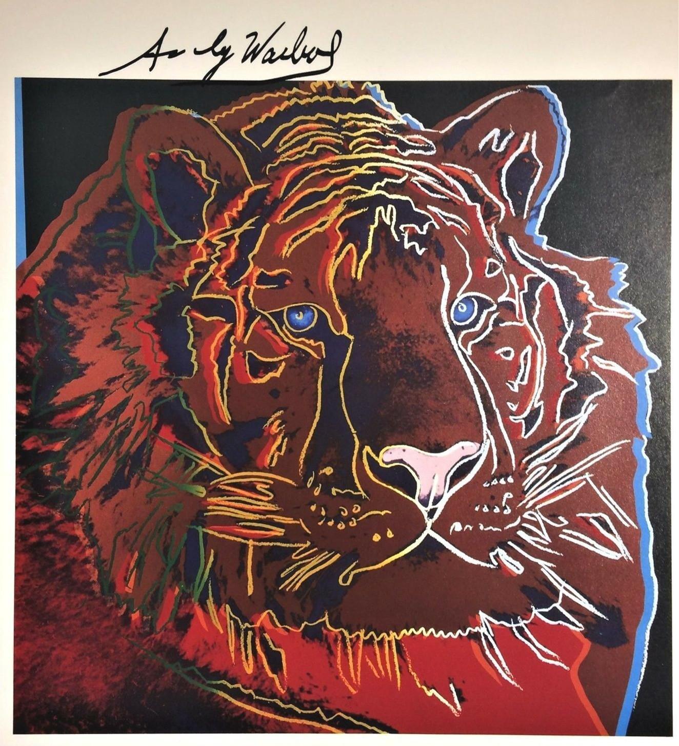 7545 tarihinde Tuval Wall Art Canvas Resimler Boyama Andy Warhol SİBİRYA KAPLAN Ev Dekorasyonu El Sanatları / HD Baskı Yağ