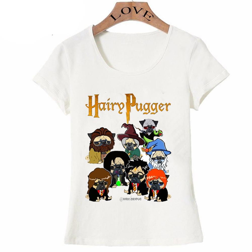 Neueste Sommer Art und Weise der Frauen kurze Hülse Hairy Pugger T-Shirt Mopsentwurf Shirts lässige Tops Hipster Mädchen-T-Stück