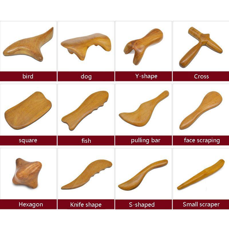 Doğal Sandal Ağacı Kazıma Masaj Spa Terapi Sopa Noktası Tedavi Kas Gevşeme Guasha Kurulu Ahşap Ahşap Masaj