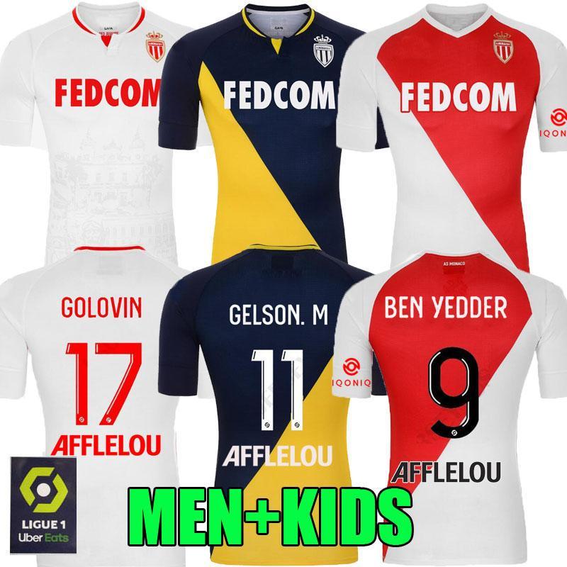 AS MONACO FOOTBALL MAILLOTS Maillots de pied 20 21 Keita Balde BEN YEDDER 2020 2021 Gelson FABREAGS golovin Hommes enfants Sponsor MAILLOT DE FOOT