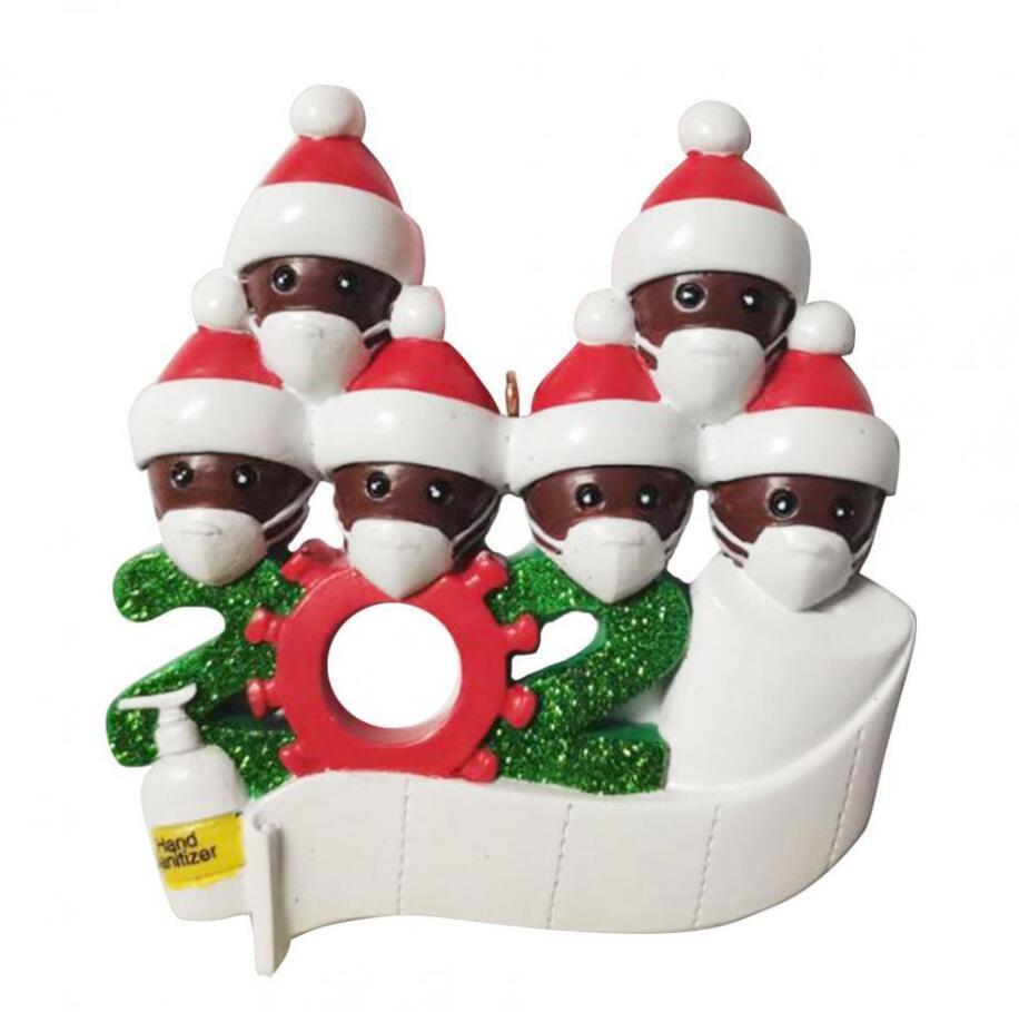 1-7 장식 유행성 -Social 거리를 PVC의 2020 검역소 크리스마스 매달려 장식 생일 파티 선물 제품 개인 가족
