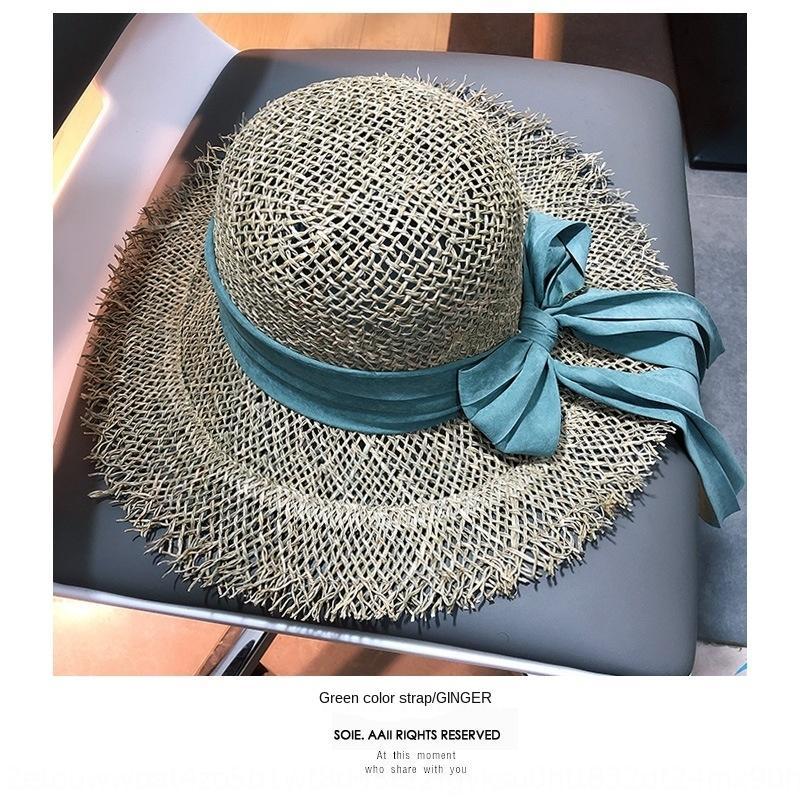 uLL9X ins paglia vacanze grande spiaggia della paglia protezione solare bave delle donne grande cappello cappello del sole delle donne del bordo in rafia
