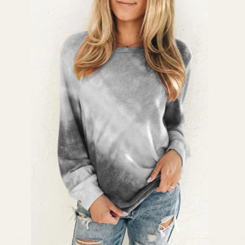 L'autunno e l'inverno nuovo colore collo rotondo delle donne del lungo manicotto allentato grandi dimensioni Top Sweatersweater maglione top rea1h