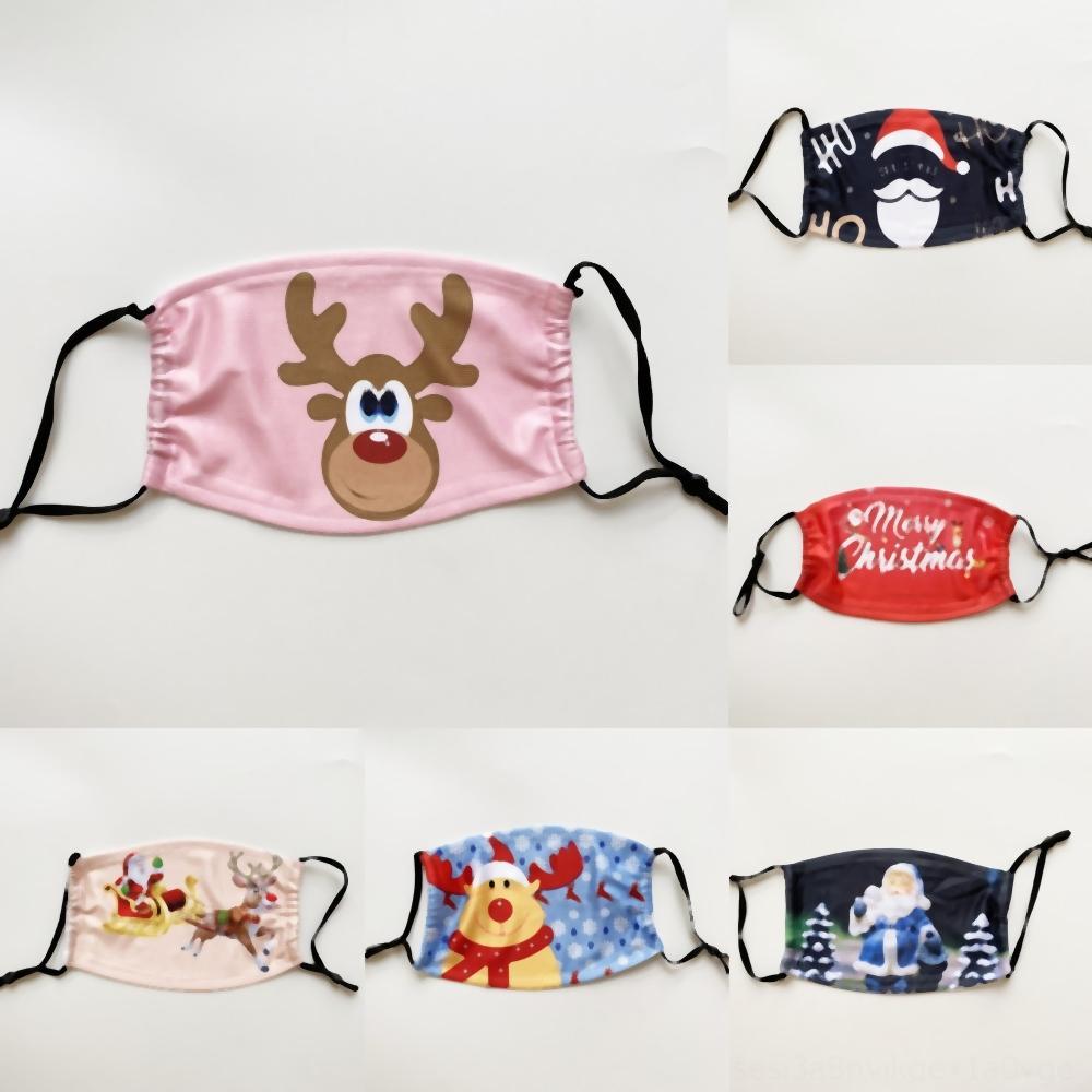 MzuYU Schutz Kinder Halloween Sicherheit Anti-fog Maske Kinderweihnachts Gesicht Weihnachtsmann Schild Transparent Weihnachten Versand Splash PET Ant