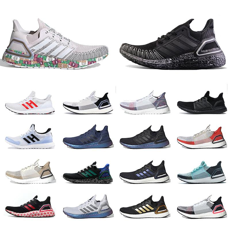 أحذية adidas ultraboost 20 ISS US 6.0 Currency Bond Peking Golden Ultra boost 4.0 حذاء رياضي رجالي نسائي أبيض أسود للتنس