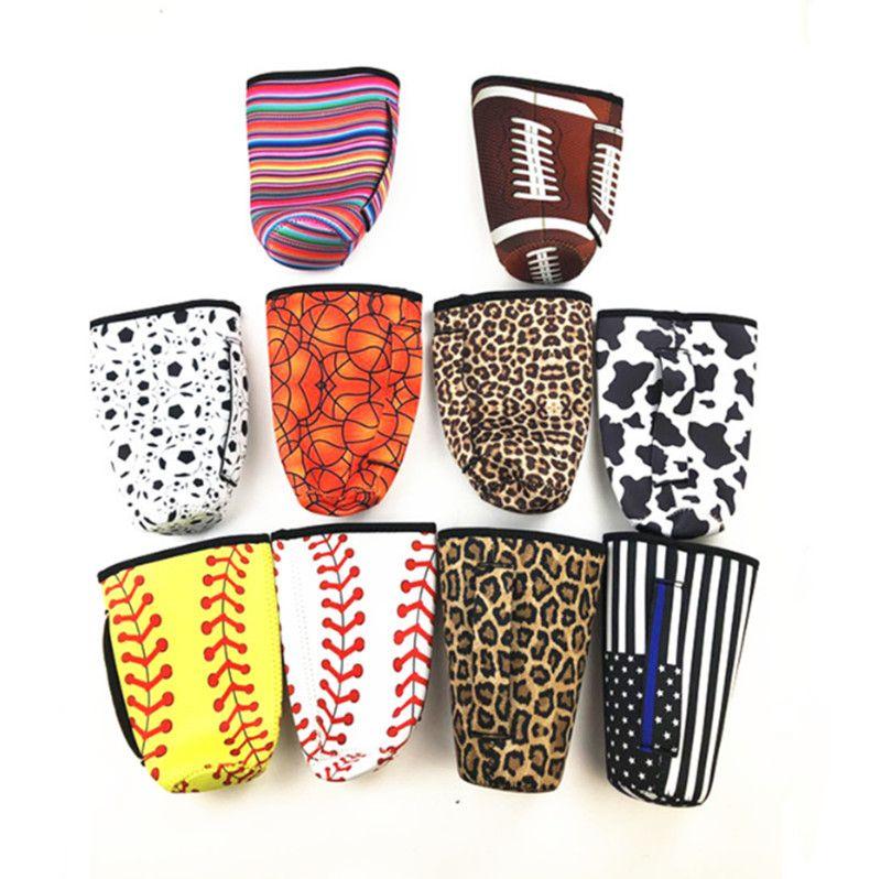 Baseball Tumbler Tragetasche aus Neopren Isolierhülse Taschen-Kasten für 30 Unzen Tumbler Kaffeetasse Wasserflasche mit Griff DHF1140 Tragen